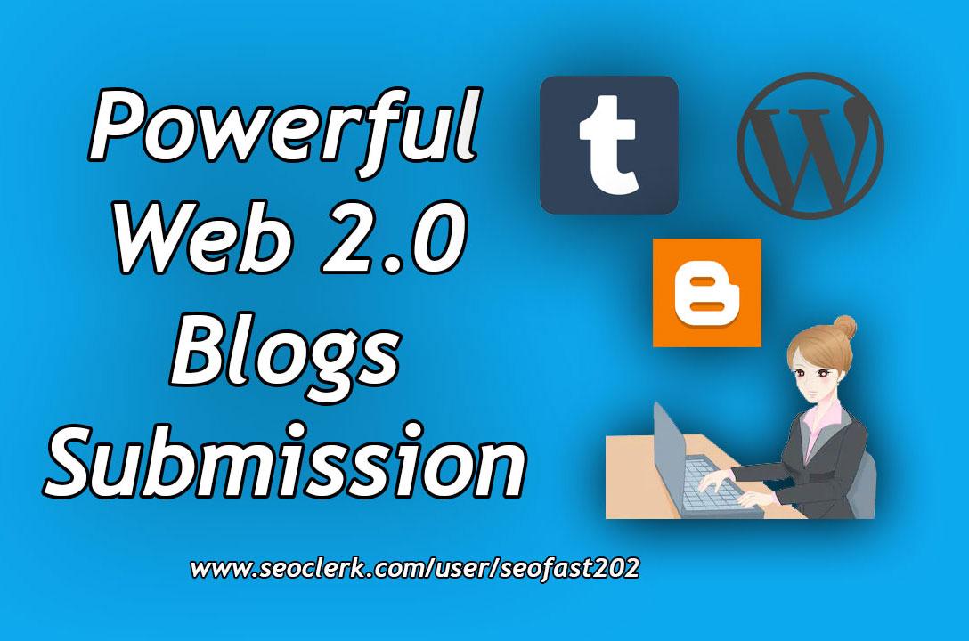 Powerful 30 web 2.0 Blogs SEO package