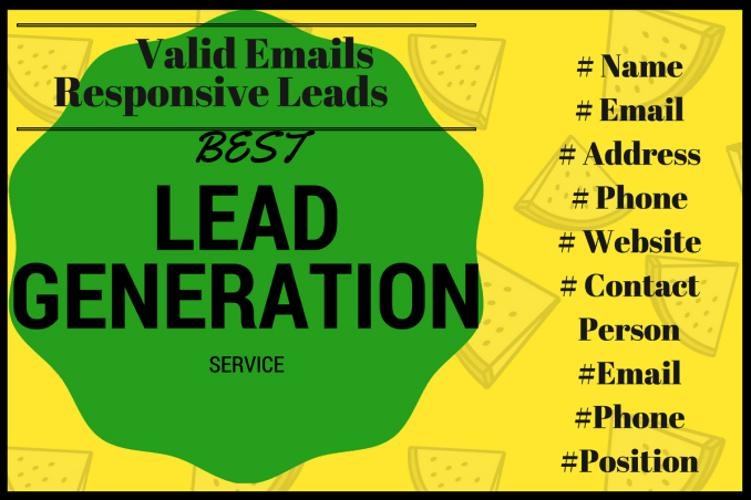 Targeted B2B lead generation and verified emails list