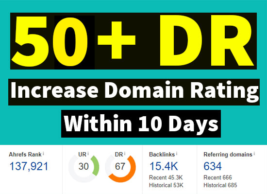 increase ahrefs domain rating DR 50 plus