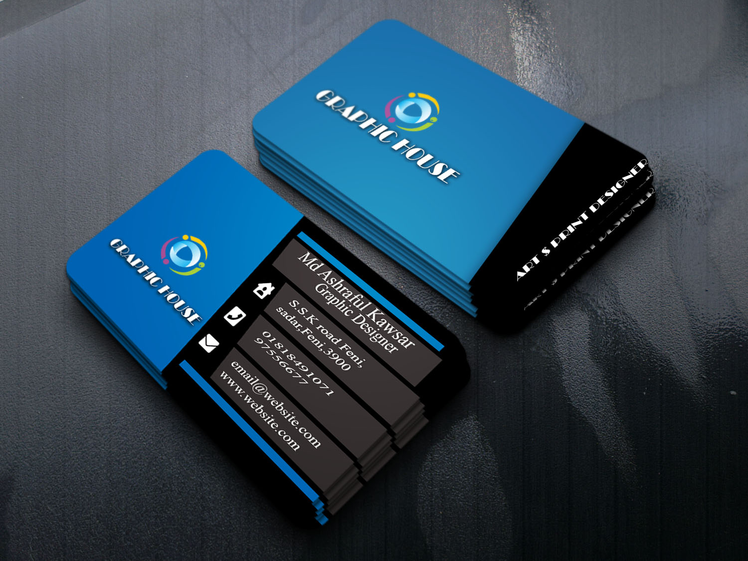 I will make unique business cards for your professional business