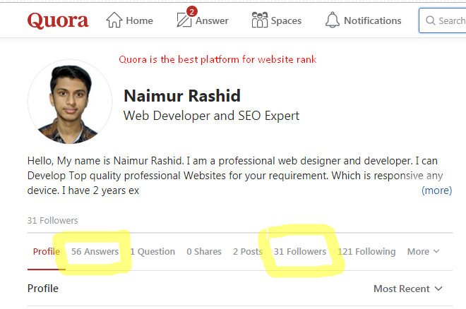 20 best quora answer for your website ranking