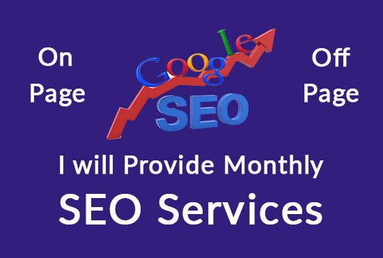 I will Provide Monthly SEO Service.