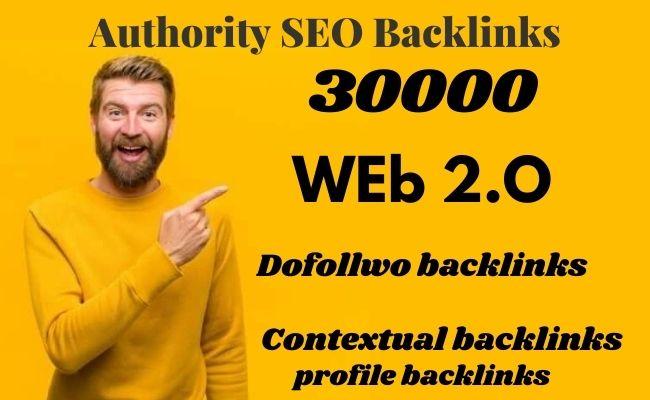 I will build authority web 2 0 dofollow backlinks,  contextual backlinks