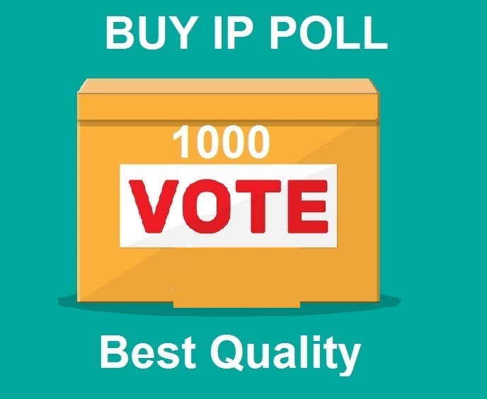 Bring 1000 Different ip votes on your online poll voting contest