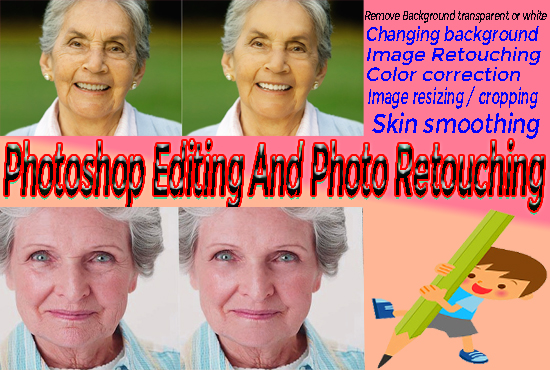 do photoshop editing and photo retouching