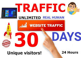 Get UNLIMITED REAL HUMAN WEBSITE TRAFFIC
