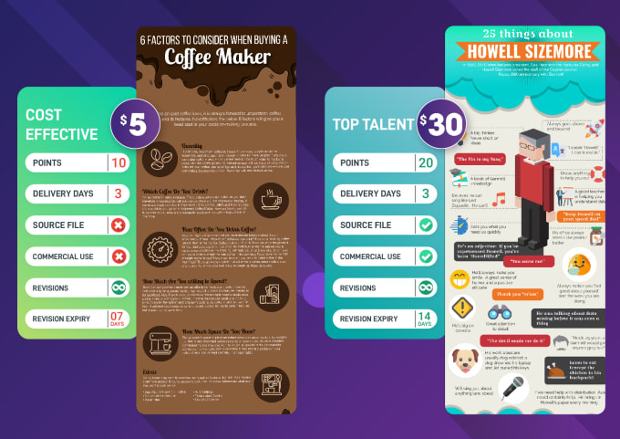 I will create unique infographic of your product