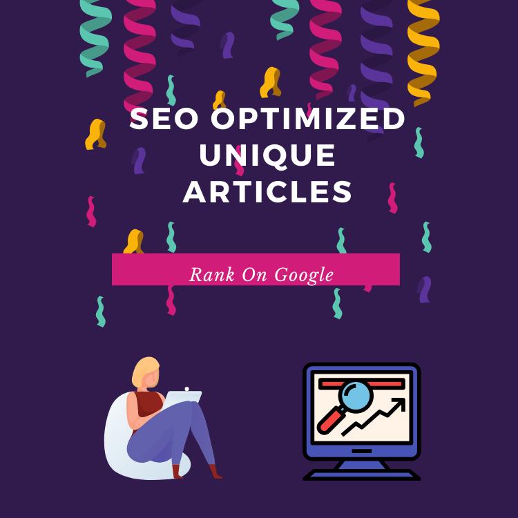 I will provide 2 seo friendly 500+ words unique articles