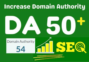increase MOZ domain Authority, MOZ DA 50 plus