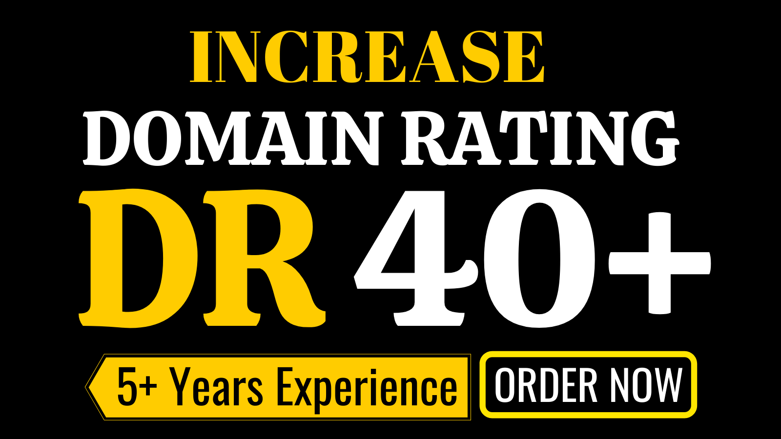 I will increase domain rating,  ahrefs DR 40 plus with white hat SEO