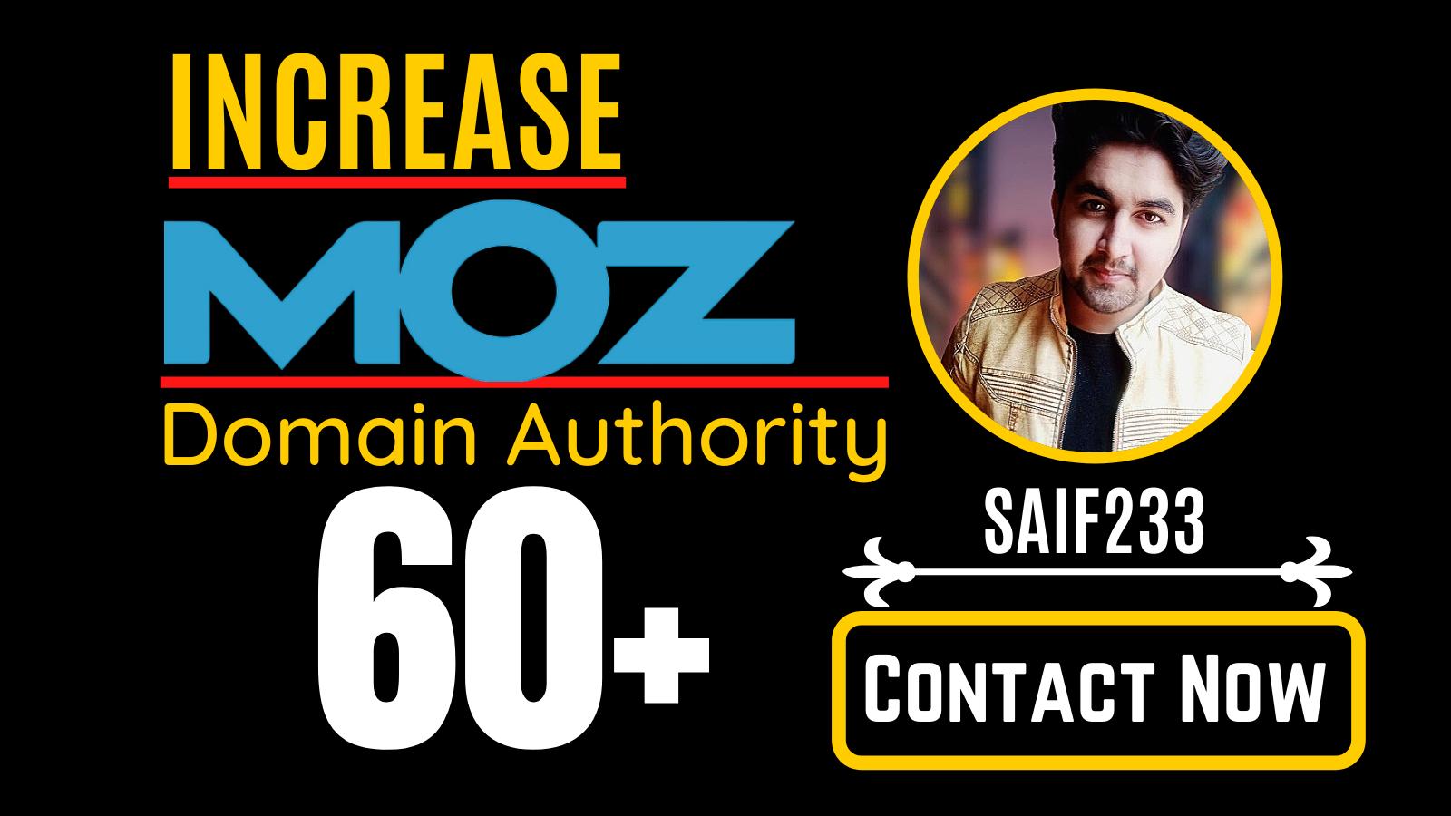 increase domain Authority,  Increase MOZ DA 60 plus