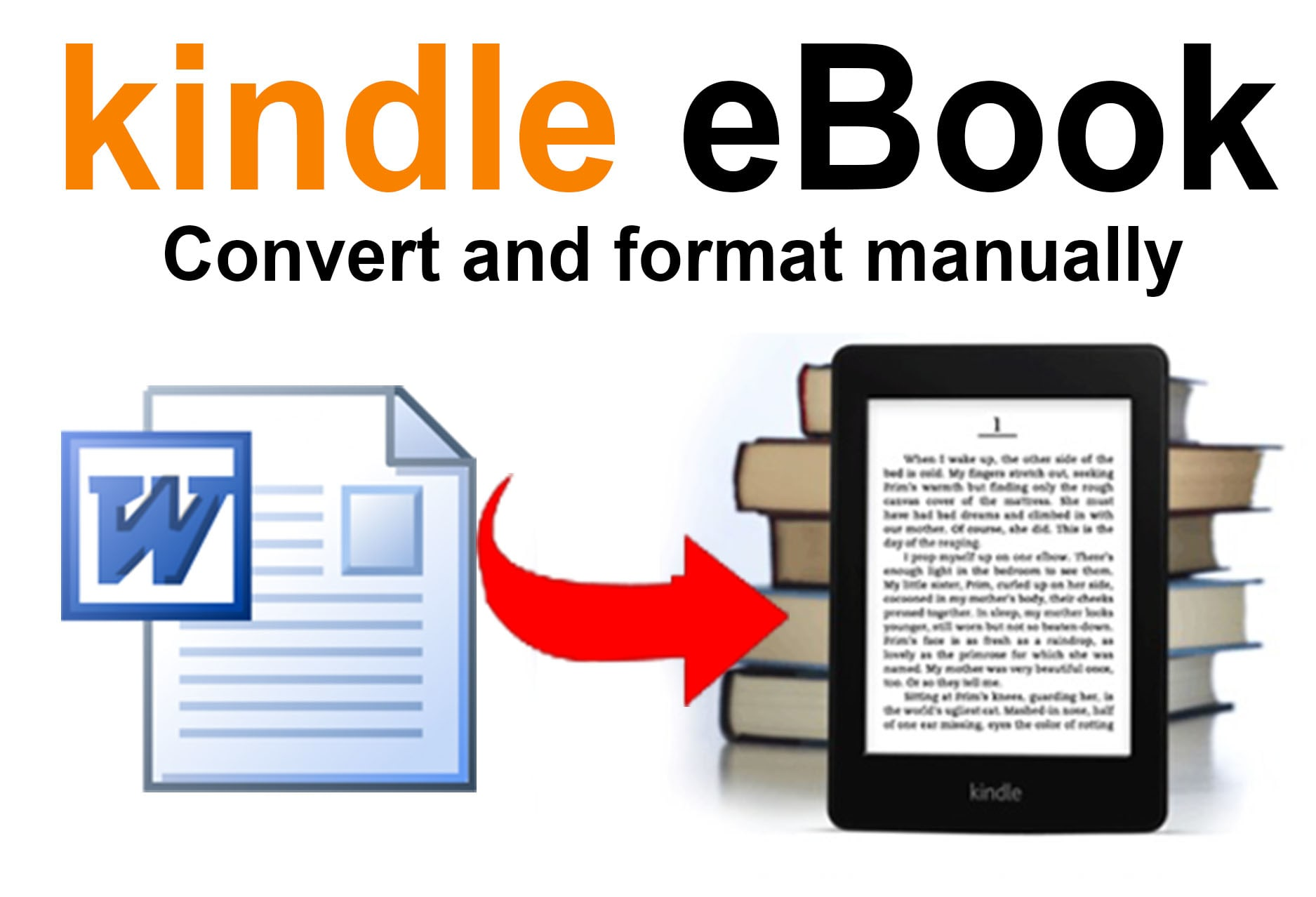 I will convert word, text file to eBook kindle,  ePUB,  best eBook format