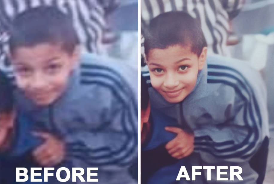 I will clean up and restore your old pictures