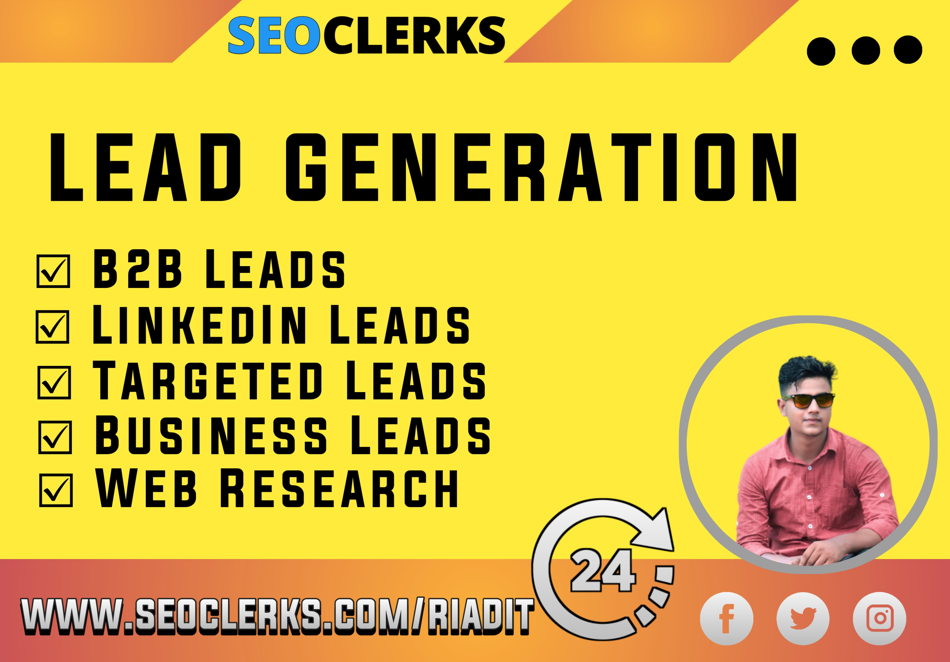 I will do b2b lead generation,  data entry,  and email scraping