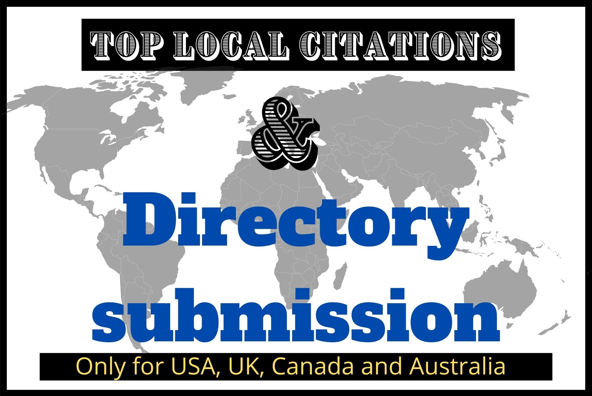 I Will do 10 Top Local Citation and Business Directory Submissions for local SEO