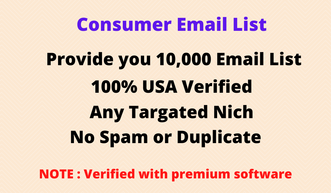 I will provide you 2000 consumer USA base email list