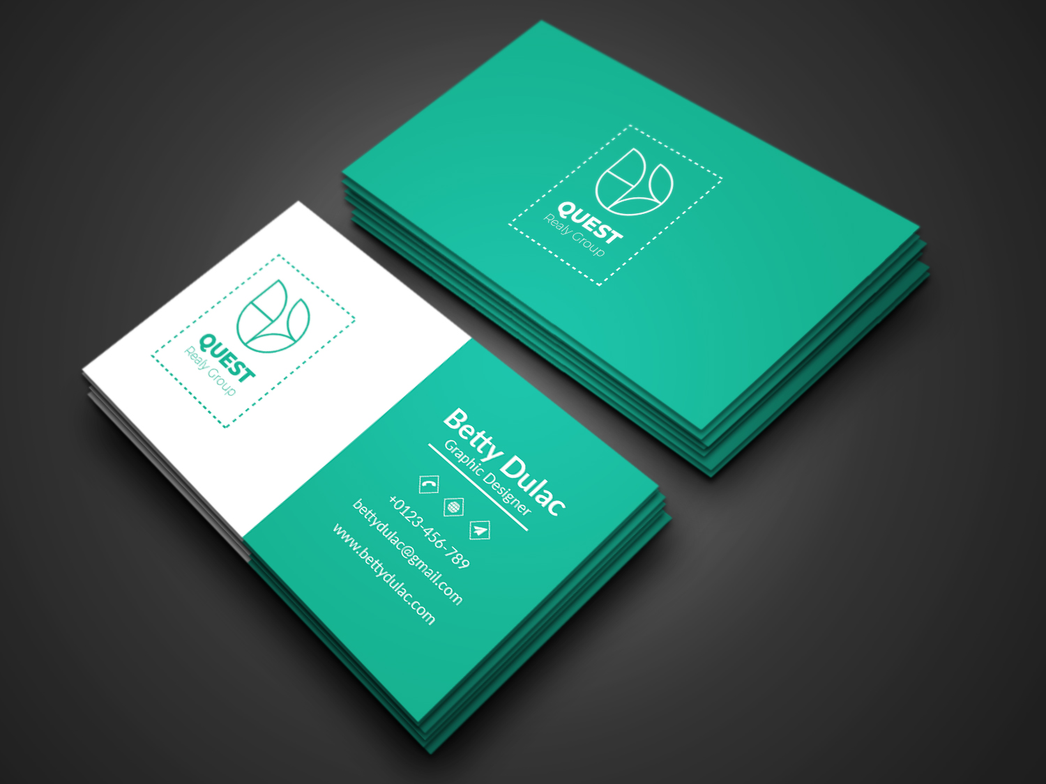 I will do a modern minimalist corporate business card design In 24 Hours