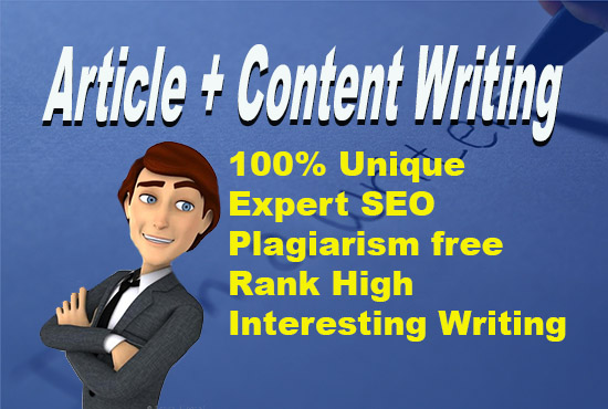 Article writing and content writing for blog or websites