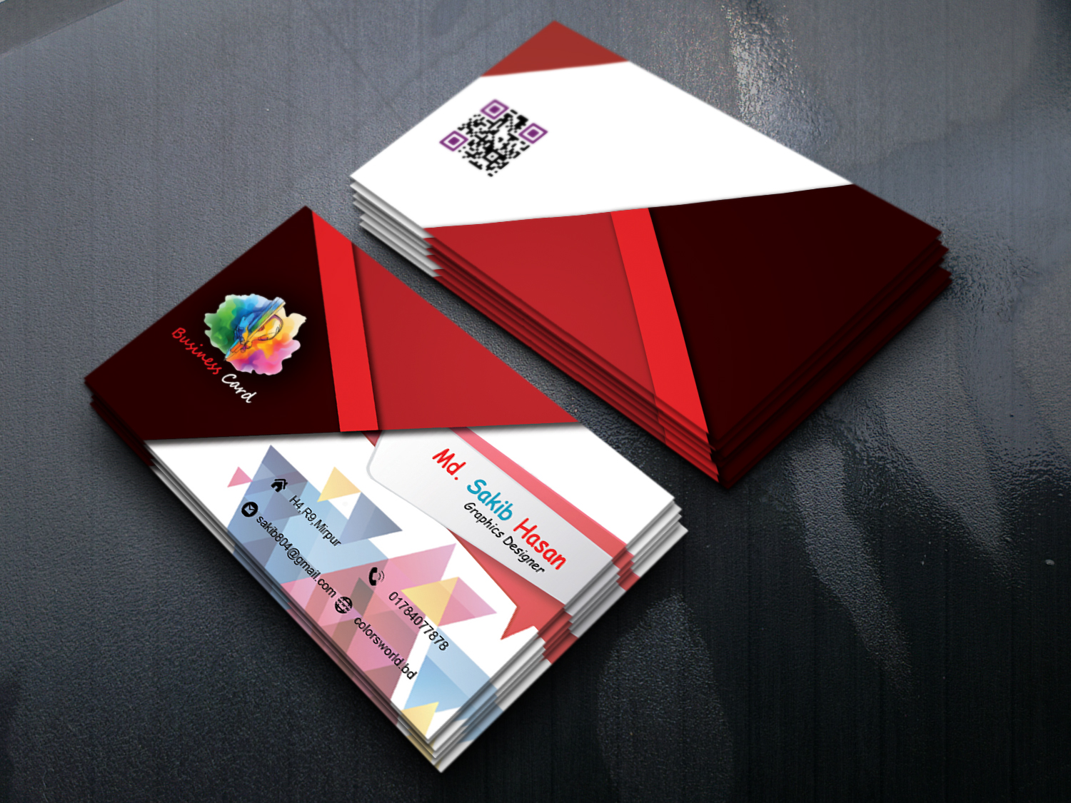 I will give proficient business card design service