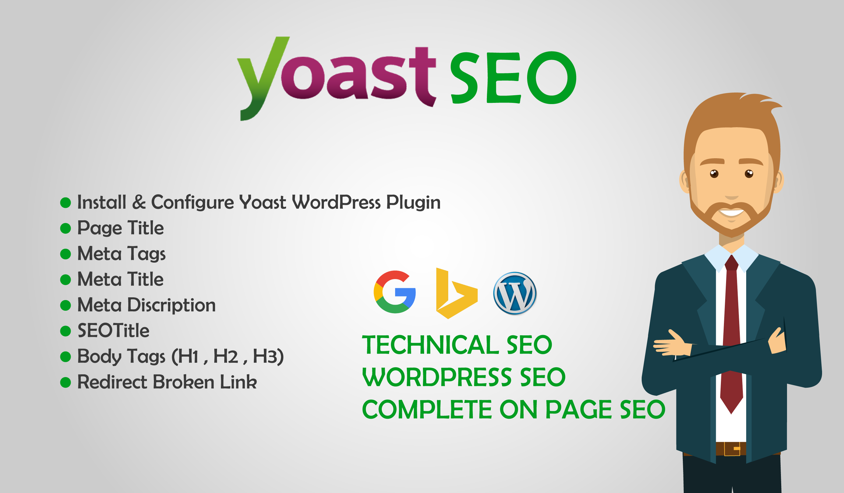 I will do yoast wordpress on page seo optimization rank 1st on google