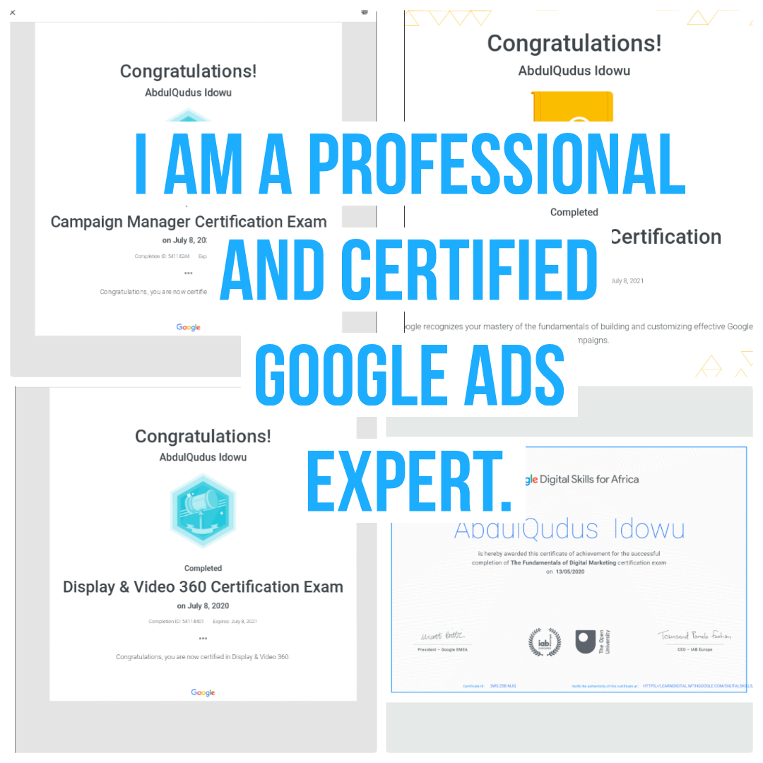 I Build and Manage Google Adwordss Campaign to get double results,  in less time.