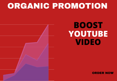 I will do organic youtube video promotion to unlimited audiences