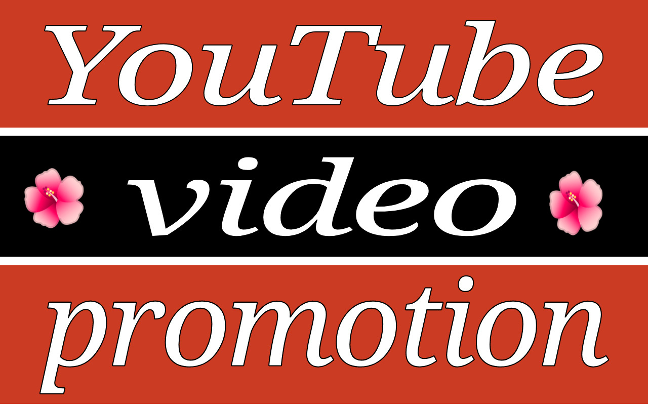 Genuine YouTube video promotion package
