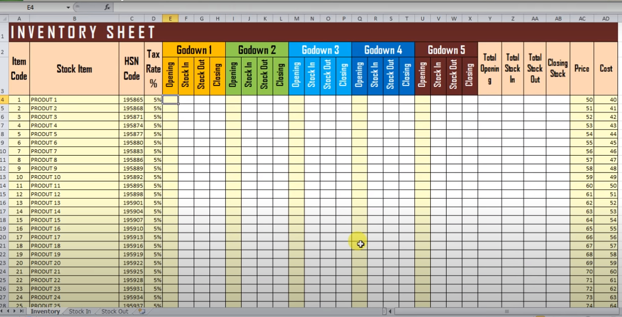 I will do stock inventory system in excel
