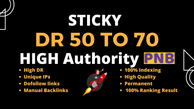 200 make DR 50 to 70 high quality dofollow backlinks for seo