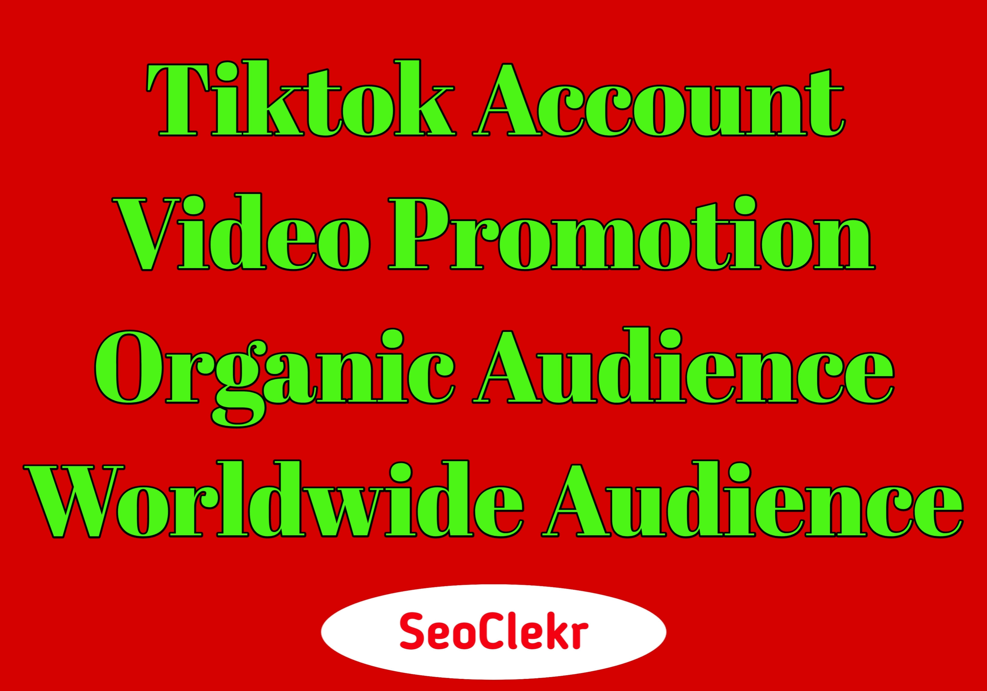 TikTok Video Account Promotion Organic Social Real Audience