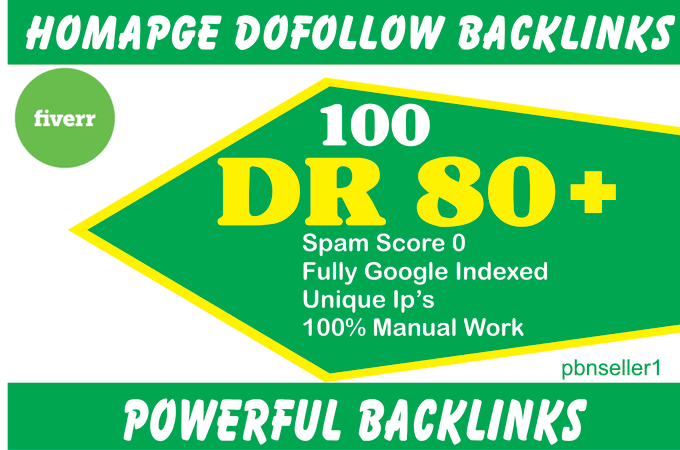 I will do 30 DR 50 to 70 dofollow seo homepage backlinks