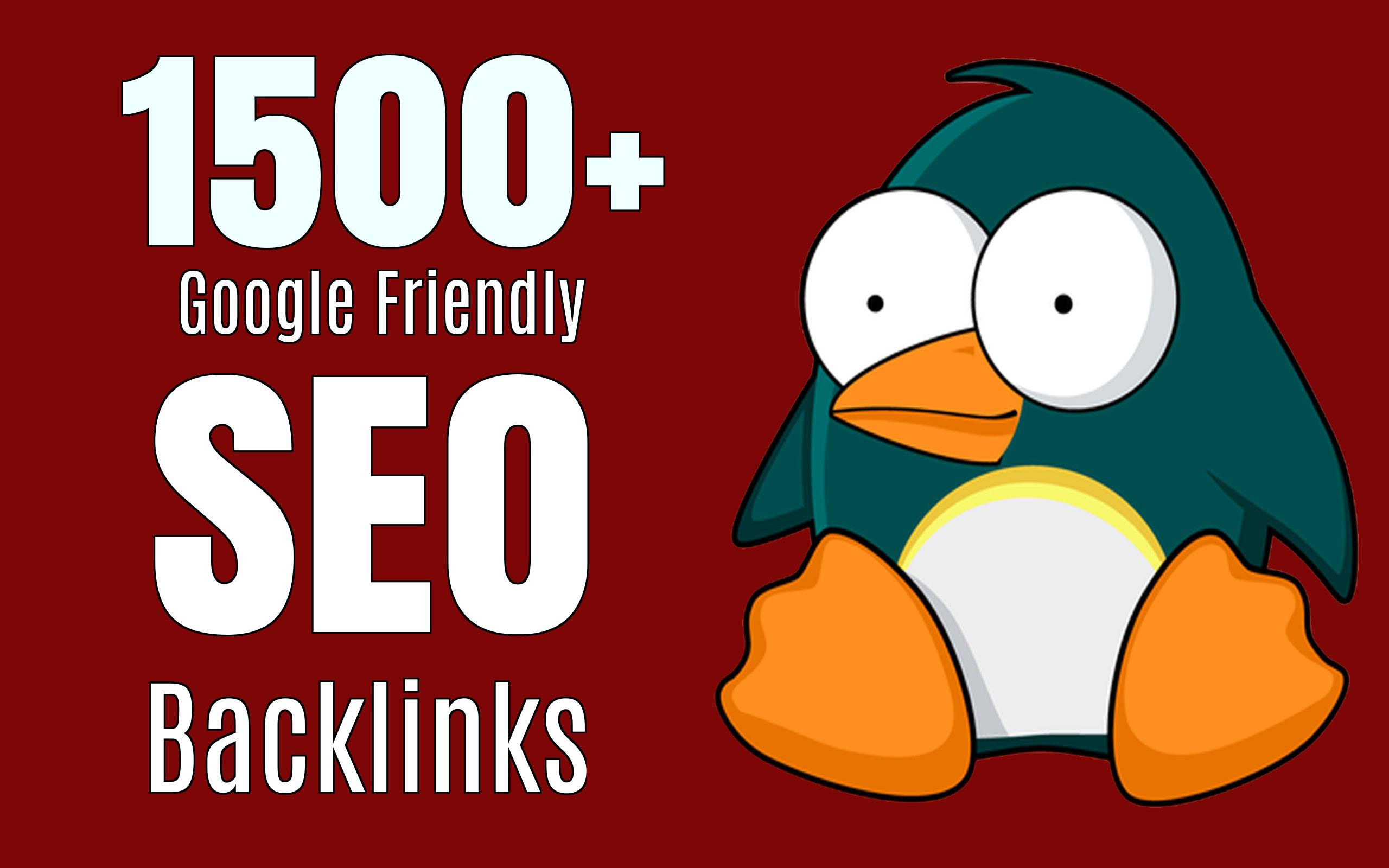 I will create 1500 HQ dofollow SEO Backlinks