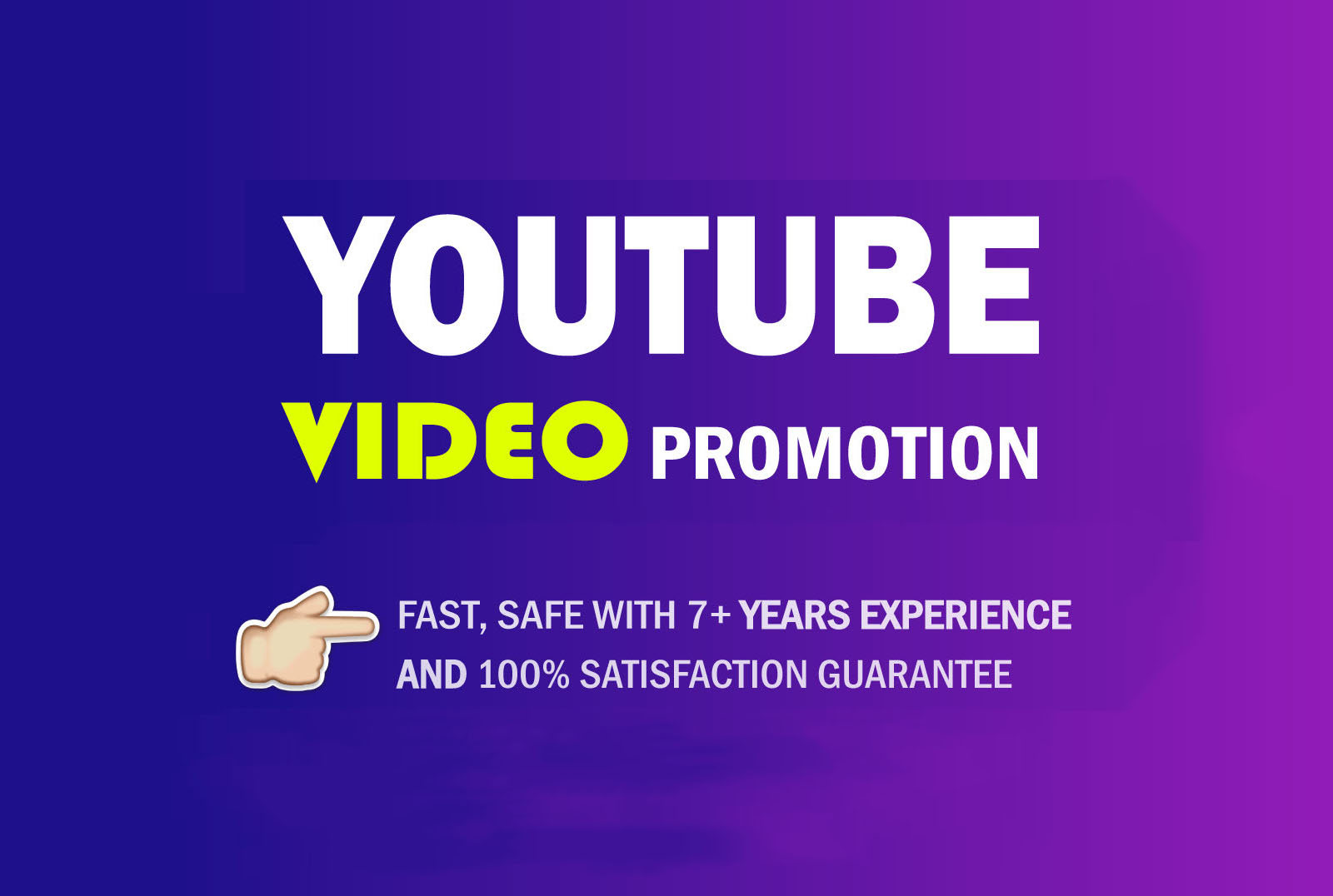 do organic youtube video promotion campaign