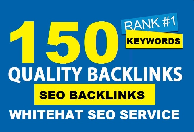 I will do 150 SEO backlinks manual link building service for high google ranking