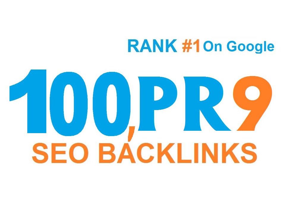 I will do 100 high pr SEO backlinks for rank 1 on google