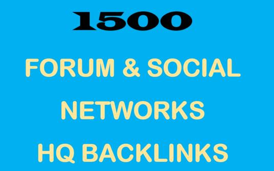 Create 1500 Forum & Social Networks Backlinks