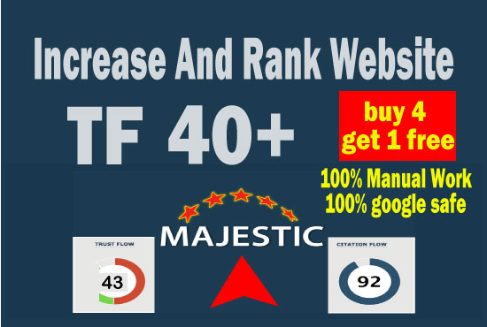 i will increase majestic tf 30 plus in 14 days guaranteed