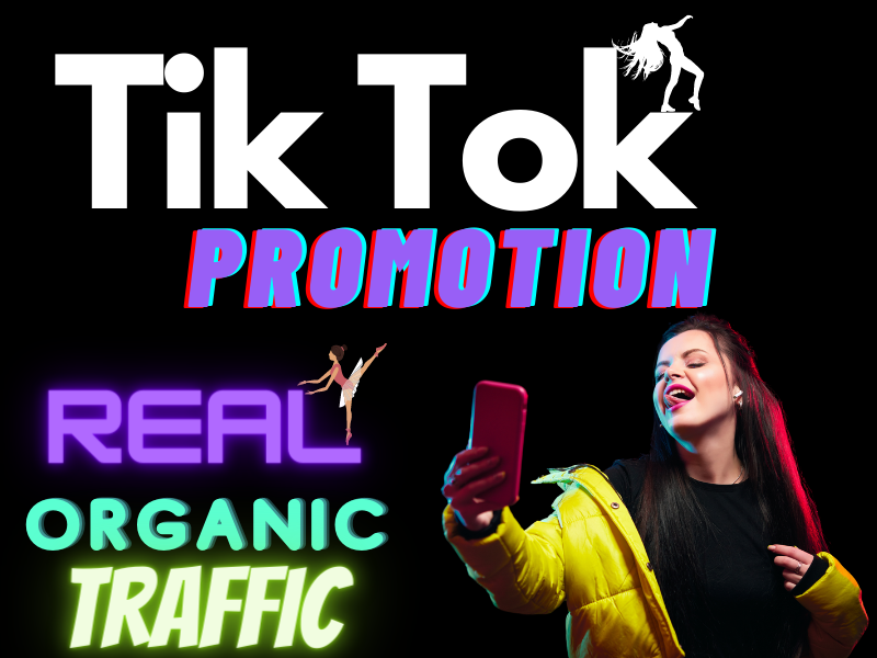 Promote your tik tok videos natural traffic and SEO