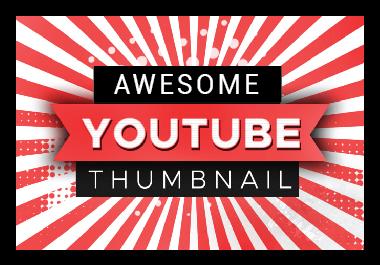 i will do eye catchy youtube thumbnail