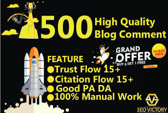 I will do the 500 high quality blog comment manual work