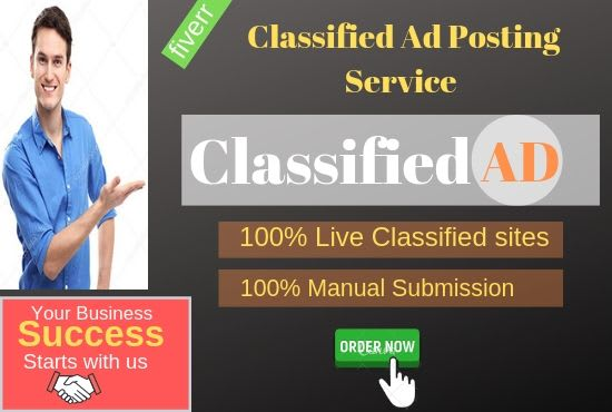 i will sumbit 10 top high quality Classified ADS On high da pa sites