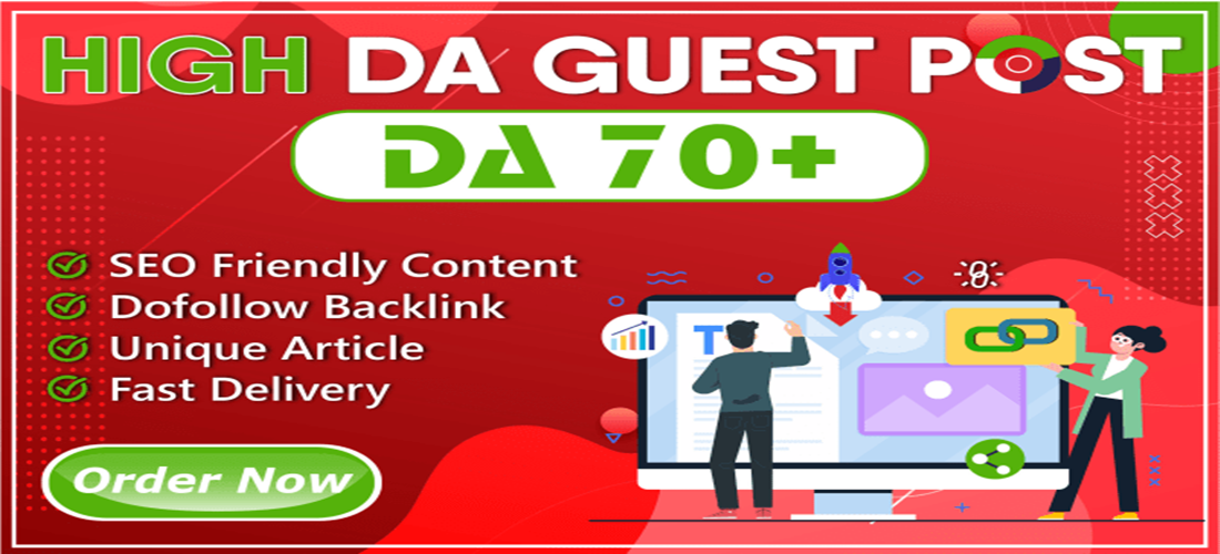 I Will Write and Publish 10 High Quality DA 50 to 90+ Guest Post ON 24 Hours With image