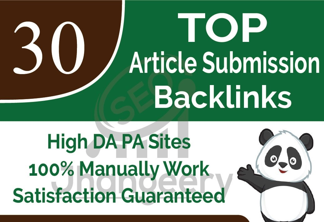DO 30 TOP Suitable ARTICLE SUBMISSION ON DA 50+ with in 24 HOURS