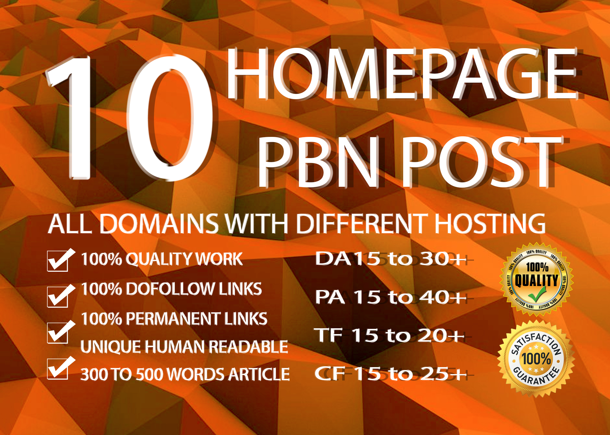 I Will Do 10 Homepage Manual Pbn Dofollow Backlinks High Quality