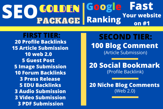 I will latest update boost your google ranking with High Quality SEO Package