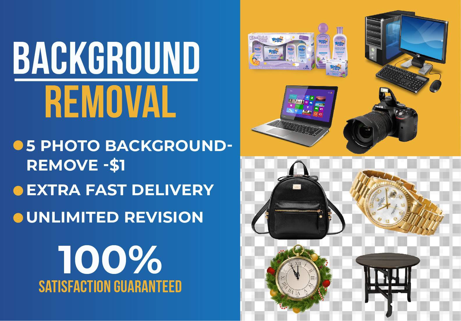 I will do professional amazon,  ebay product background remove and photo cut out