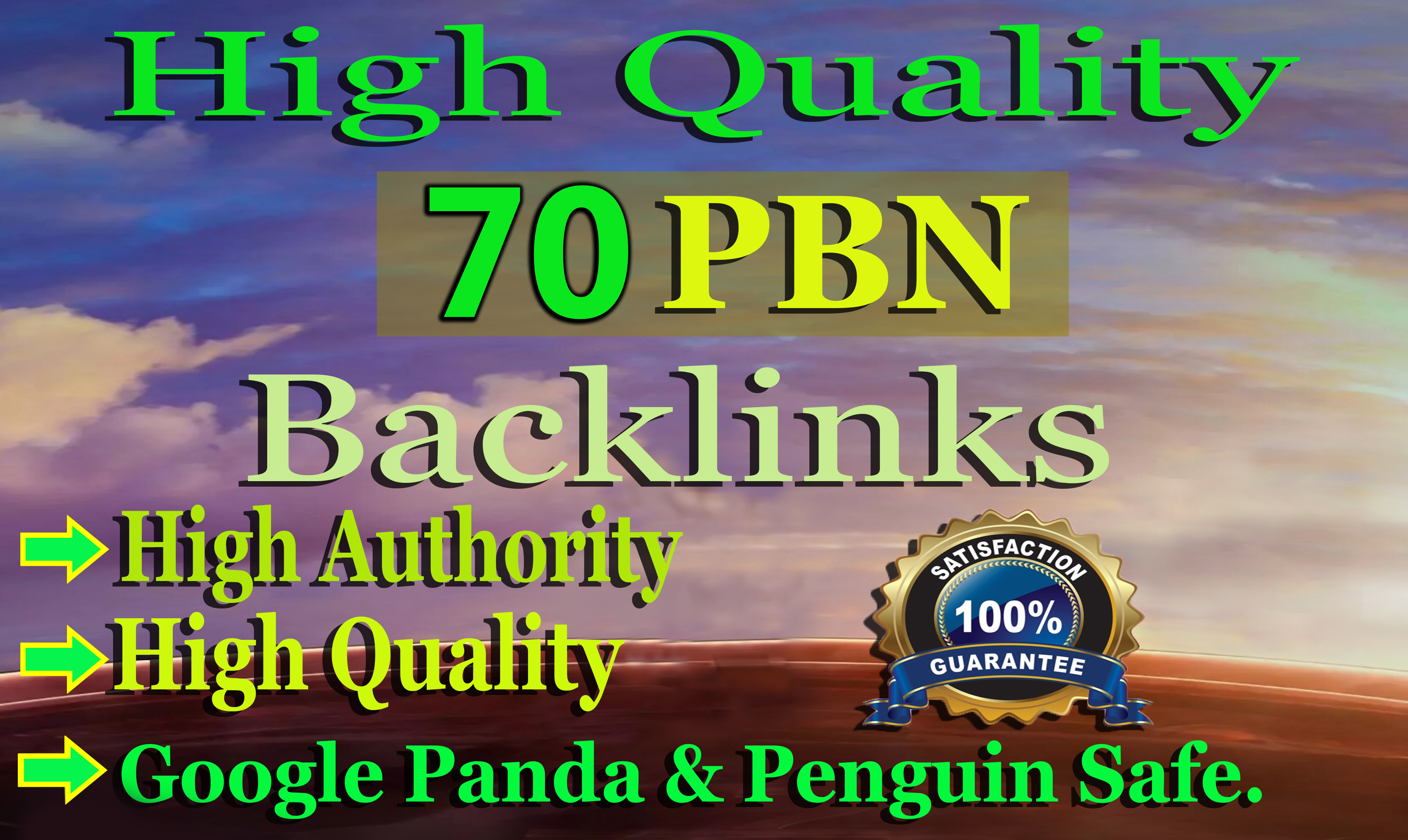 I will do 70 high quality web 2.0 pbn backlinks for your website ranking
