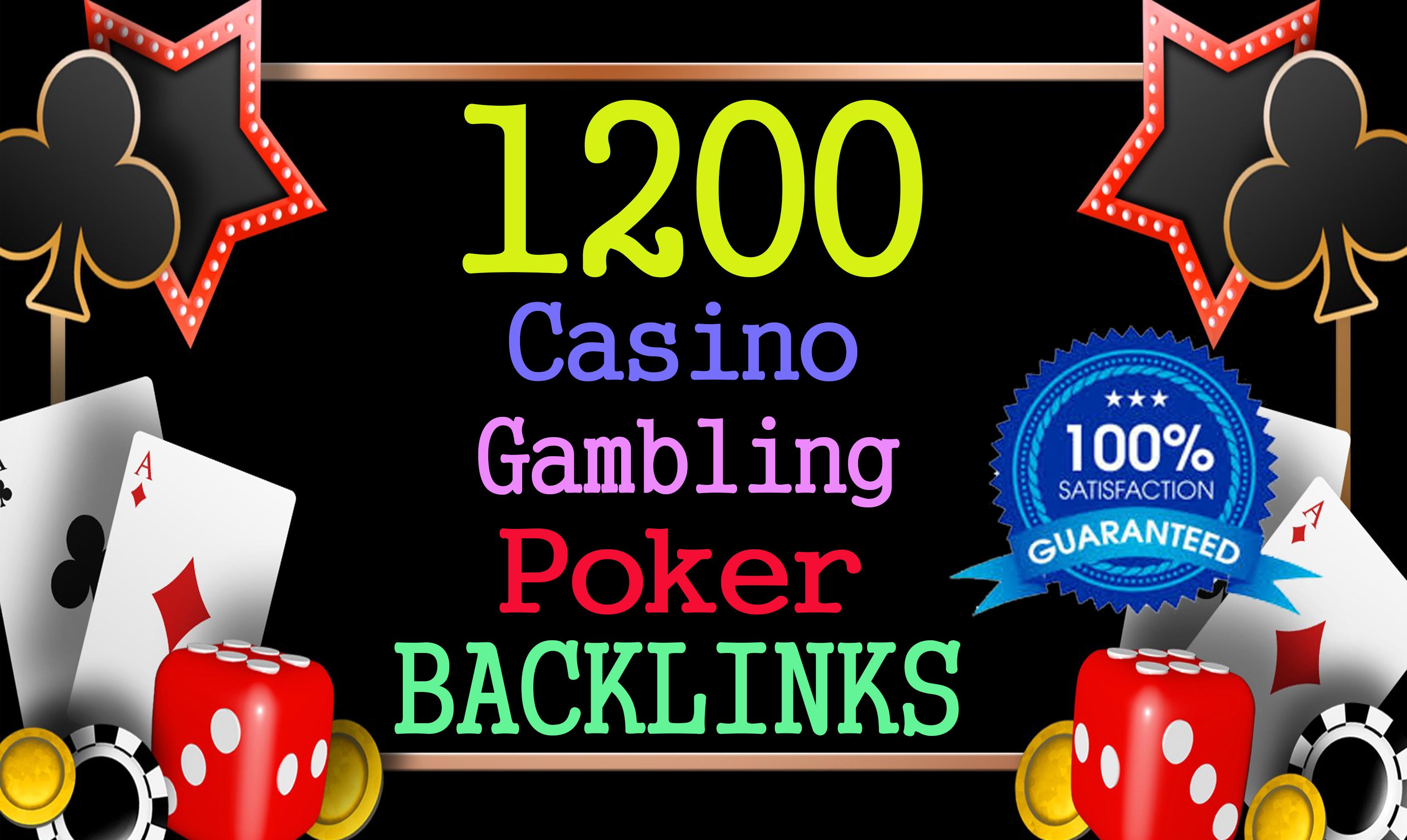 Permanent 1200 powerful judi bola,  Casino,  Gambling,  Poker,  Sports High Quality Web2.0 Backlinks