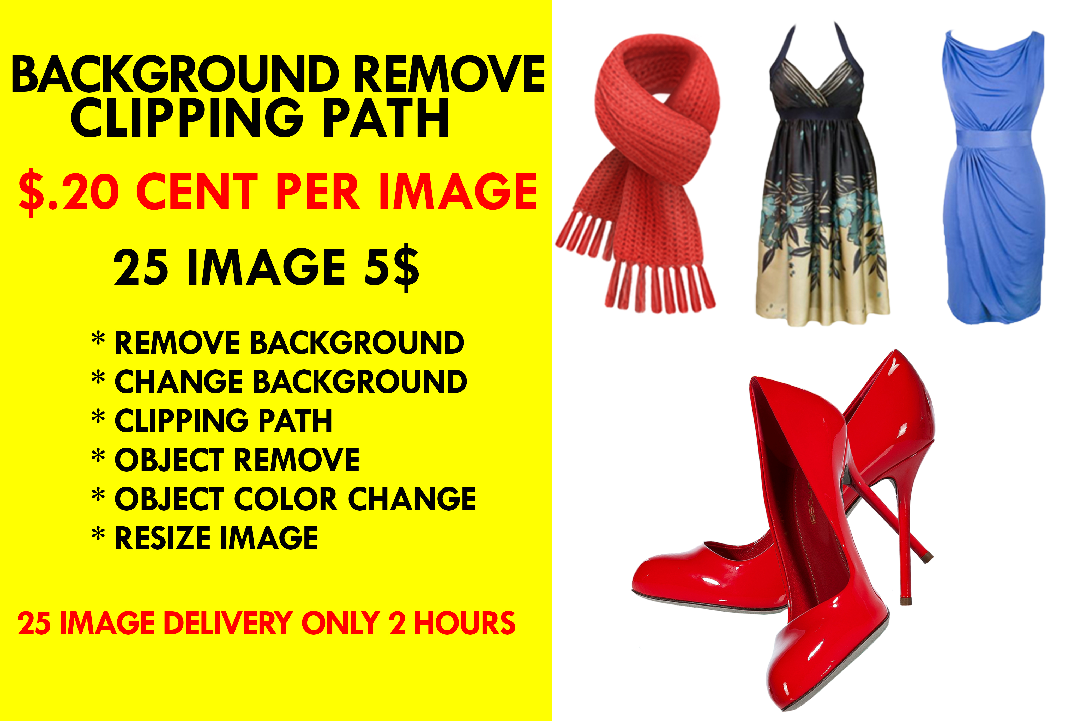 25 photo background remove by clipping path in 24 hours