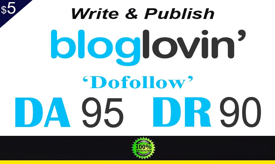 Provide Guest Post On Bloglovin Da90 in 24 Hr